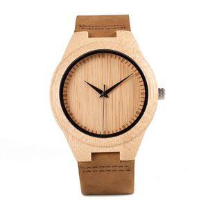 5839eb728f89 MONTRE W001 Bambou montre homme montre à quartz Bois Mont