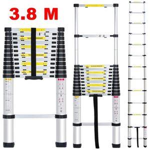 ECHELLE - ESCABEAU Finether échelle télescopique portable aluminium-1