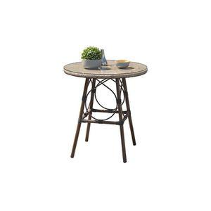 Table basse ronde Iris noire Couleur Noir Matiè… - Achat / Vente ...