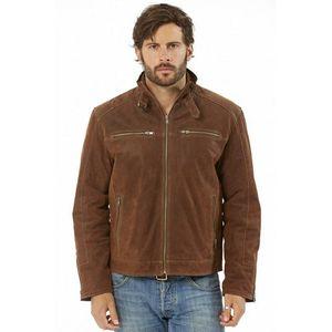 Blouson cuir col chemise à patte Chesnut Achat Vente