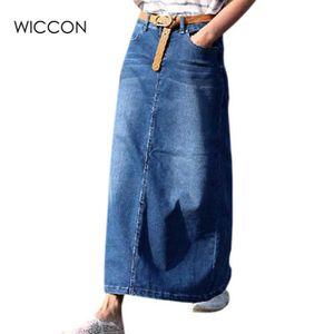 accd1b4800f JUPE Femmes Longues Jupes En Jean Jeans Occasionnels Ju
