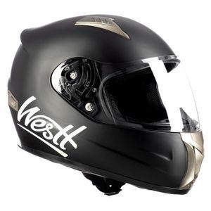 CASQUE MOTO SCOOTER WESTT Storm · Casque Moto Intégral en Noir Mat ave