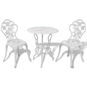 Salon de jardin fonte aluminium - Achat / Vente pas cher