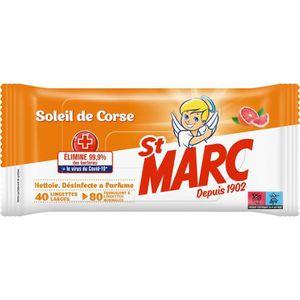 LINGETTE NETTOYANTE ST MARC Lingettes - Soleil de Corse x40