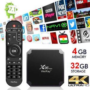 BOX MULTIMEDIA Smart TV BOX 4GB+32GB WEIRAY® X96 Max Android 7.1