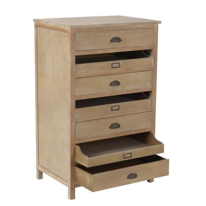 commode de chambre meuble rangement 7 tiroirs