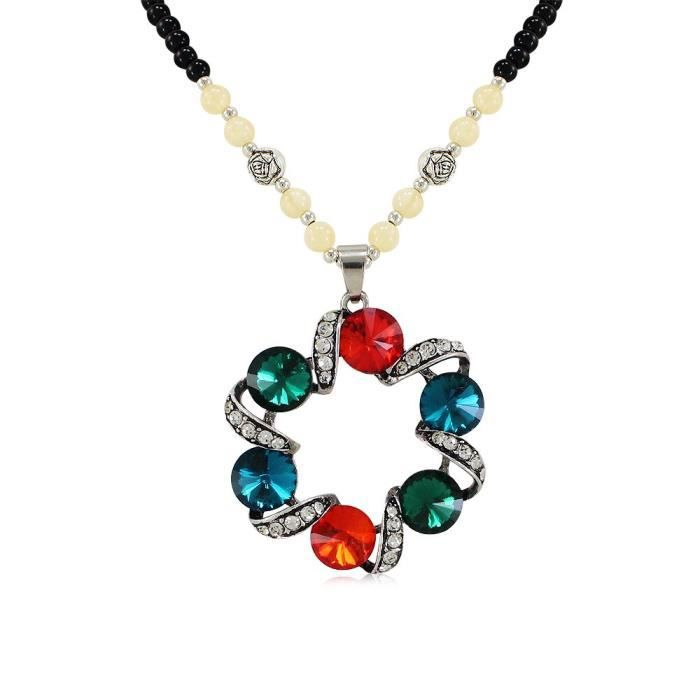 Womens Created Multi Color Elegant Designer Necklace Perfect Gift For Your Dear Ones NJEUA