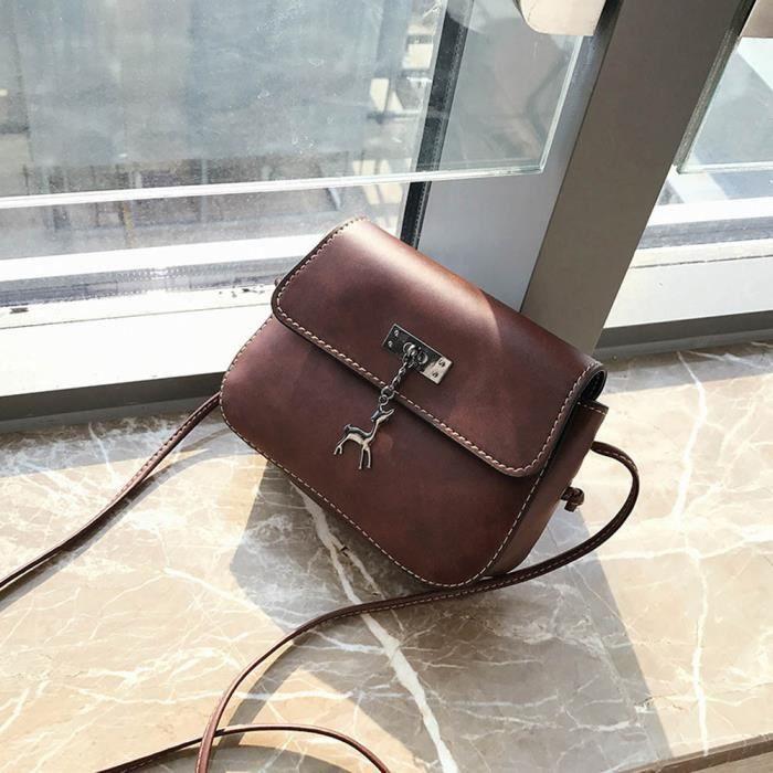 Femmes sac à main Vintage cuir Marron  Sac 1813 - Achat   Vente ... 5b937688753c