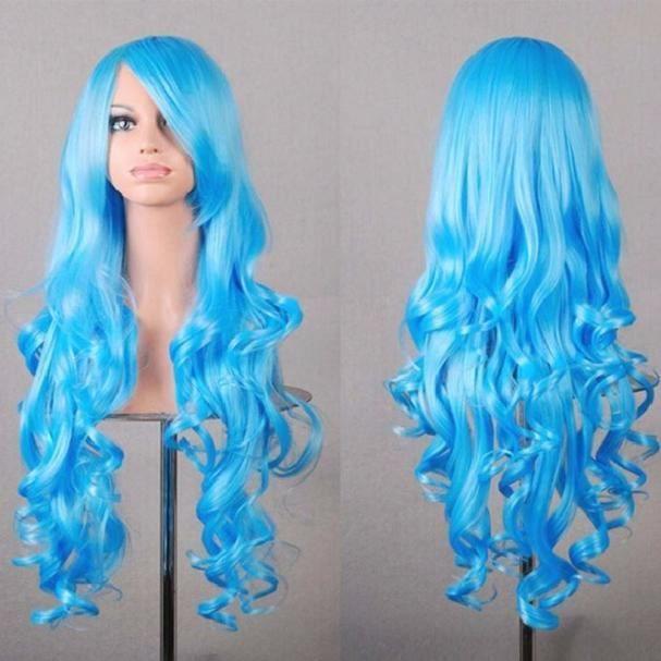Femmes femme long ondulé cheveux bouclés