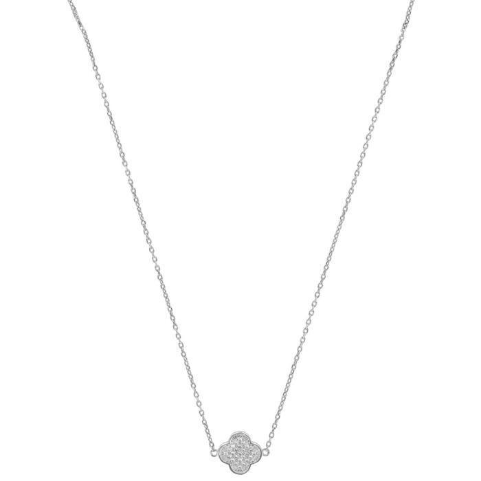 Jouailla - Collier argent rhodié 925-1000e et Oxyde de Zirconium
