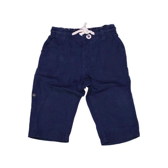 vente chaude en ligne f3121 75bdb Pantalon bébé garçon H&M 9 mois bleu été - vêtement bébé #1032577