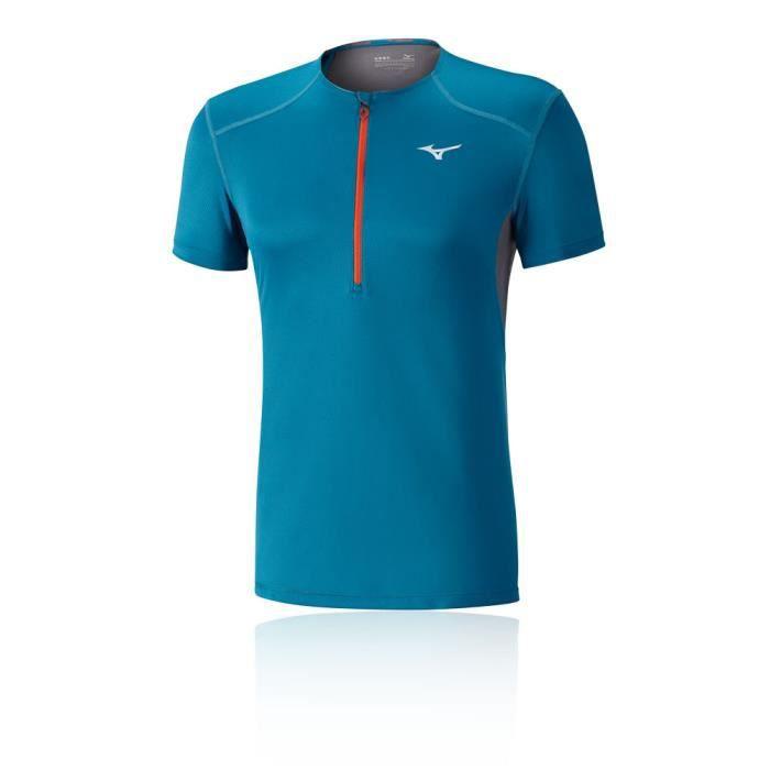 Mizuno Homme Mujin Race 1 2 Zip Jogging T Shirt Sport Prix