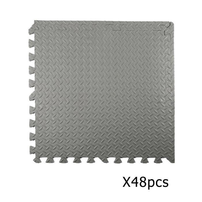 Ensemble de 48 EVA tapis de sol mousse 60*60CM gris
