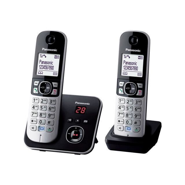 Téléphone Fixe Sans Fil KXTG6822GB Panasonic - Achat téléphone fixe ... f1a549491842