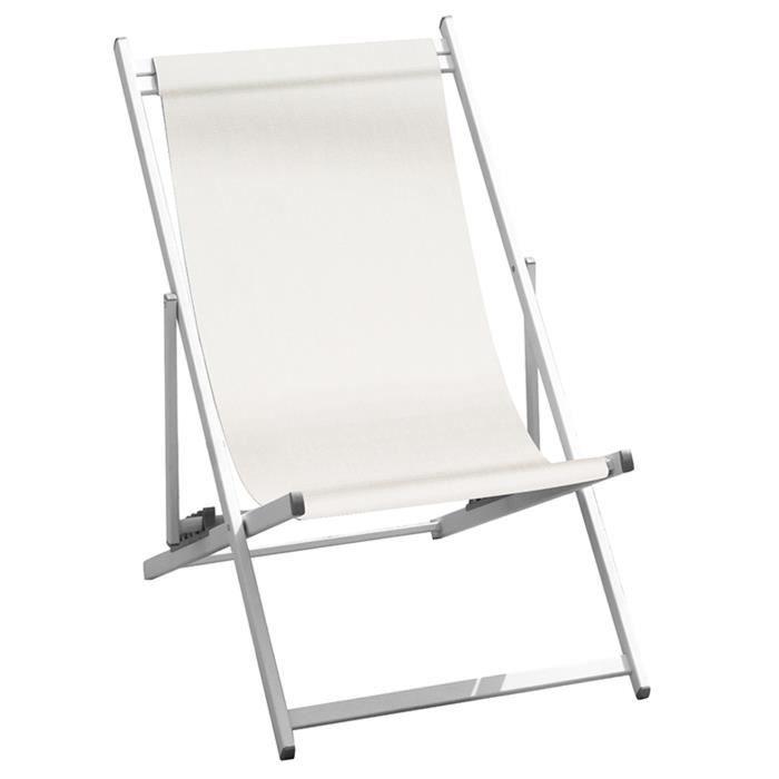 CHAISE LONGUE Chaise longue de jardin en aluminium tube 35 x 18