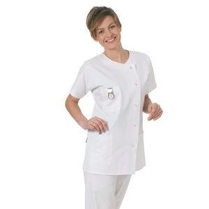 c7738a9334f3 ... TUNIQUE - BLOUSE Blouse médicale courte en tissu piquée pour tenue ...