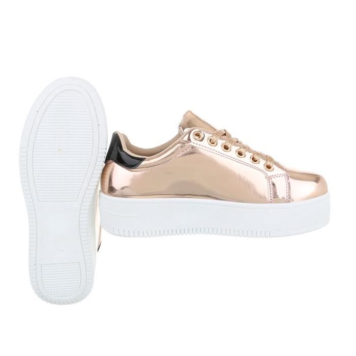 Chaussures femme chaussures sportSneakers rose or 41