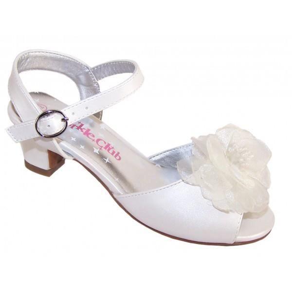 Sandales à petits talons ivoires irisées pour mariages et occasion spéciales