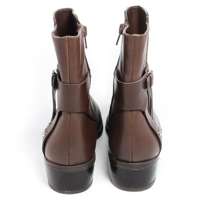 Ralph Lauren Womens Marisol Almond Toe Ankle Leather Fashion Boots G3WE9 Taille-37 1-2