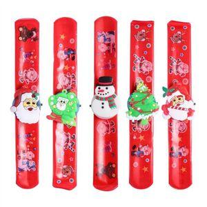 FOULARD - CRAVATE 5 Pcs LED Lumières Père Noël Noël Slap Bracelet Xm
