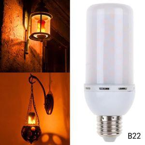 AMPOULE - LED 1 Pcs B22 LED SMD 5 W scintillement flamme feu eff