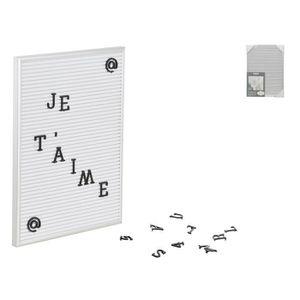 TABLEAU - TOILE Tableau à message 21x30 cm - Aluminium et plastiqu