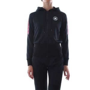 CONVERSE SWEAT-SHIRT Femme BLACK Black - Achat   Vente sweatshirt ... 33d7d275128b
