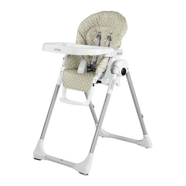 PEG PEREGO Chaise Haute Zero3 - Babydot Beige