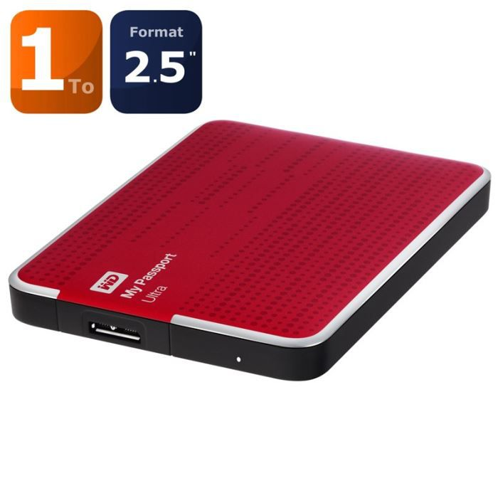 Western Digital Disque Dur Externe Reconditionné - My Passport Ultra - 1To - 2,5