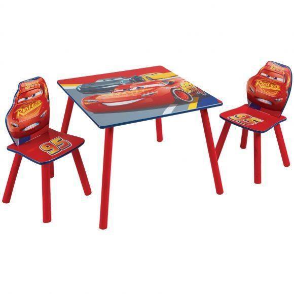 CARS Disney Ensemble Table Et 2 Chaises Pour Enfants