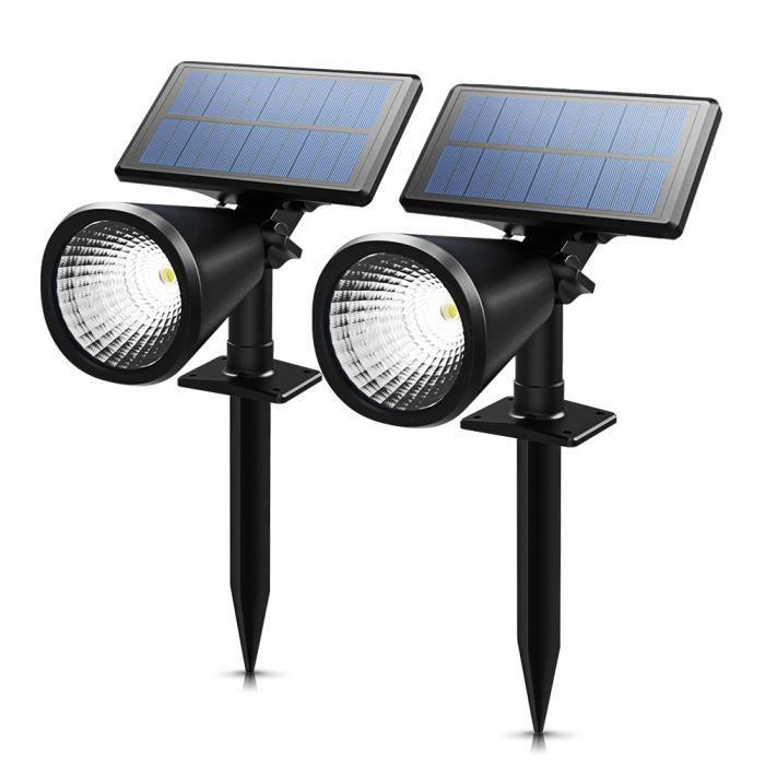 2 PACK Spot Solaire LED]Lampe solaire Led sans fil jardin etanche ...