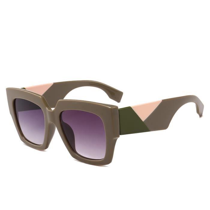 2018 hot new ladies lunettes de soleil boîte personnalité grandes lunettes de soleil