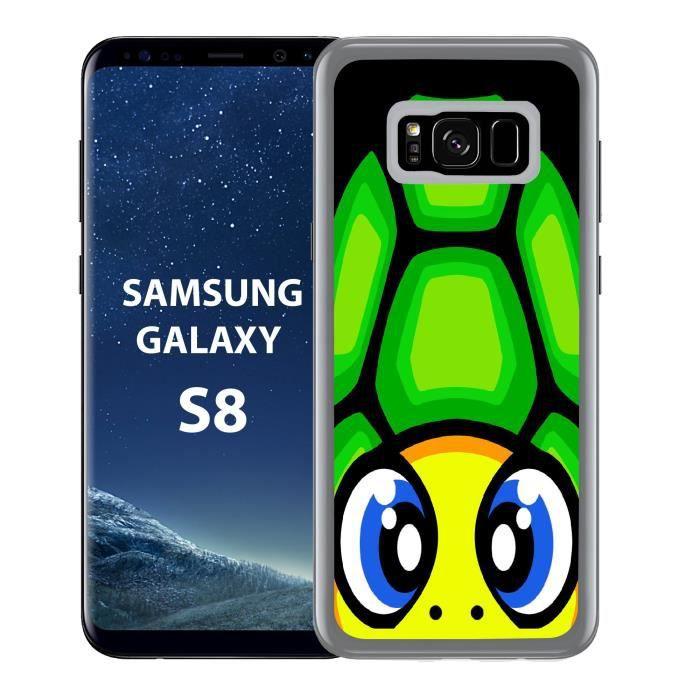 Coque Samsung Galaxy S8 Valentino Rossi Moto the doctor 46 GP racing biker Hard Case Model 10