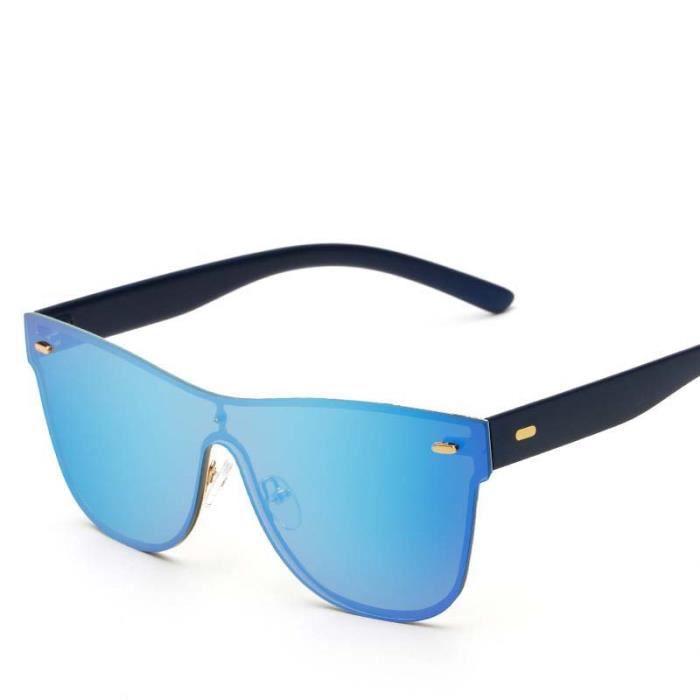 Lunettes De Soleil Unisexe Homme Femme UV400 Rétro Fashion Sunglasses  Conducteur Aviateur Pilote Lunette Solaires Verre Bleu  1 bc23507280e1