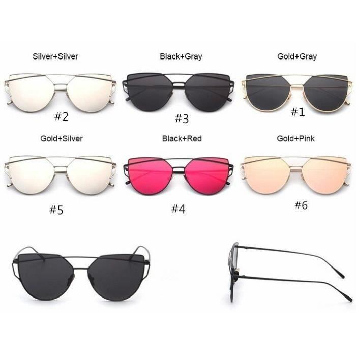 Demeuble-3252 Mode dété en plein air de luxe Vintage Metal Frame Femmes Sunglass 6 couleurs