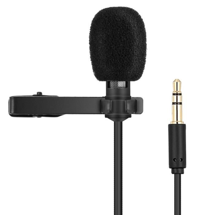 (#144) Clip-on Lapel Mic Lavalier Omni-directional Double Condenser Microphone, For Live Broadcast, Show, Ktv, Etc
