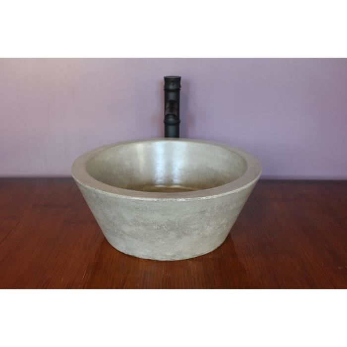 vasque poser konic terrazzo gris achat vente lavabo vasque vasque poser konic terraz. Black Bedroom Furniture Sets. Home Design Ideas