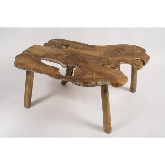 table basse en racine de teck l 100 cm achat vente. Black Bedroom Furniture Sets. Home Design Ideas