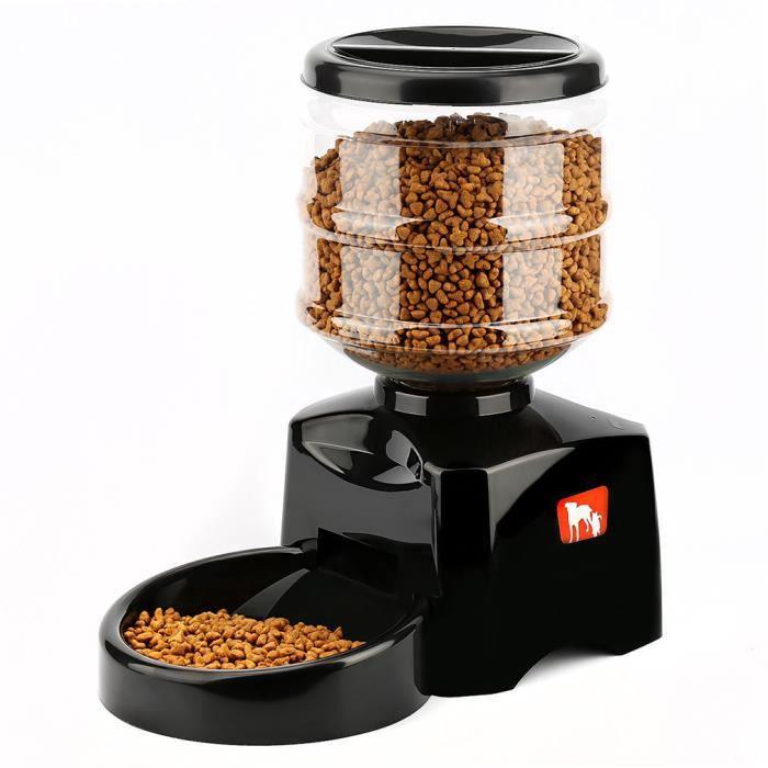 Leshp® 5.5l Distributeur Automatique De Nourriture Pour Des Chiens Chats Avec Fonction D'enregistrement & Écran Lcd
