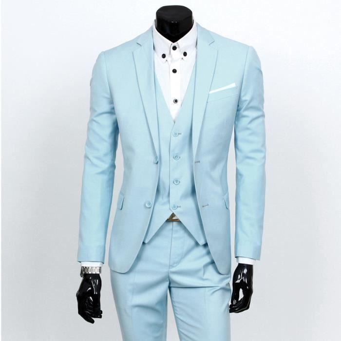 Costume Homme Mariage 3 Pieces Marque Blazer