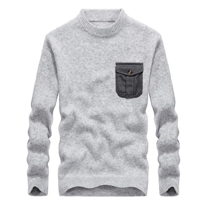 Doux Rond Maille Automne En Vetement Pullover Col Homme Casual Hiver Pull wF0qOO