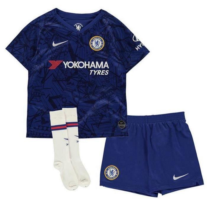 b9f09834c2b47 MAILLOT DE FOOTBALL Nouveau Mini-Kit Officiel Enfant Nike Chelsea FC S