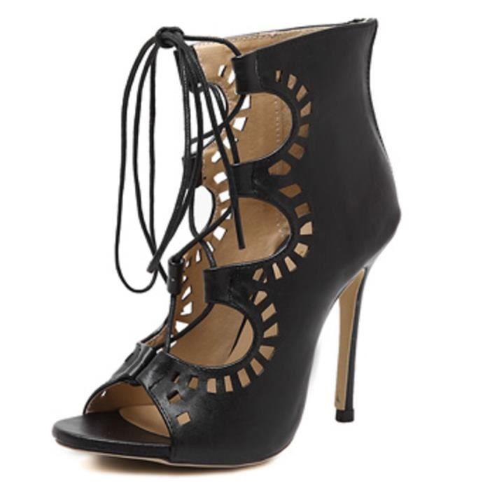LEurope Sandales Sexy Women Pompes Noir