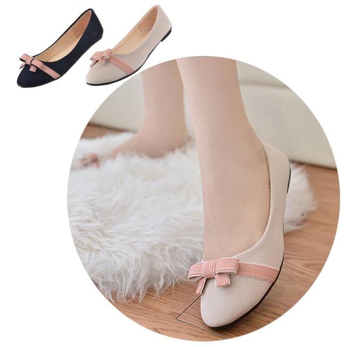 Ballerine Femme Souple Mocassin Ballet Chaussur Ballerine Ballet r7qwrTU