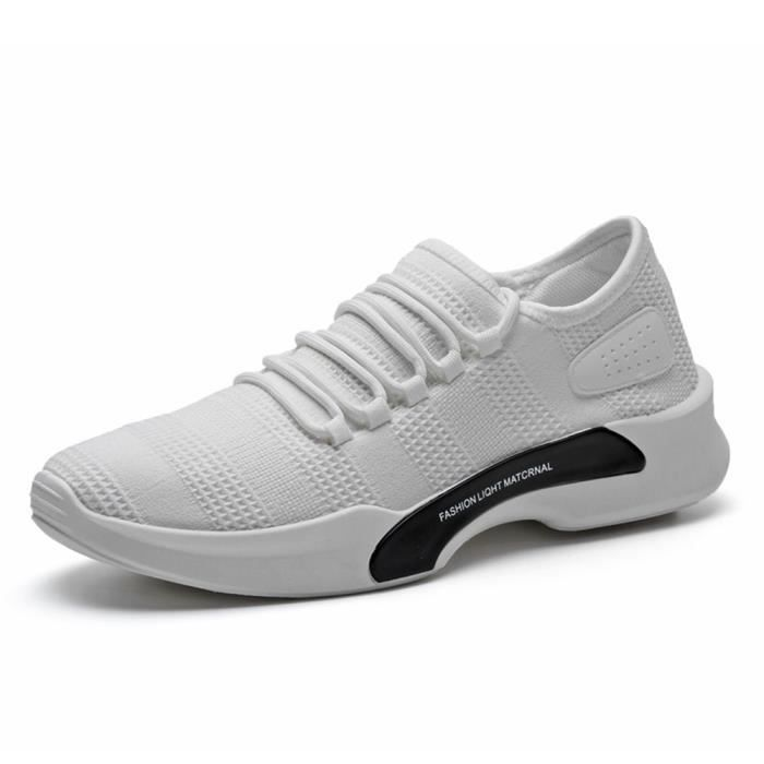 Basket Homme Ultra Comfortable Occasionnelles Chaussure BZH-XZ011Blanc-41 pQOuw