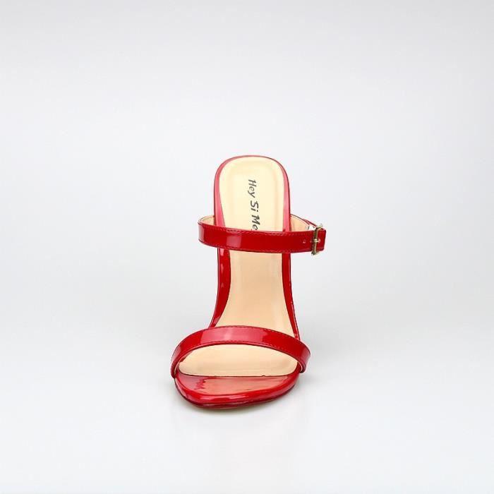Nouvelle extrême haut talon 14cm talon compensé brevet sexy fétichiste Slip talon haut sur la mode sexy Afficher Sandales f1WvA