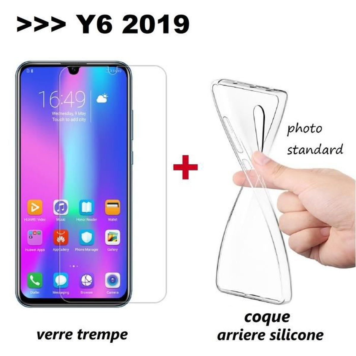 coque arriere huawei y6 2019