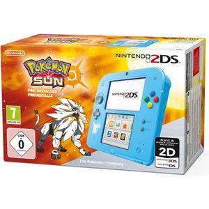 CONSOLE 2DS 2DS Bleue + Jeu Pokémon Soleil Préinstallé