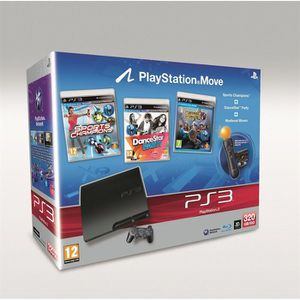 CONSOLE PS3 PS3 320Go BLACK + MOVE STARTER PACK + 3 JEUX