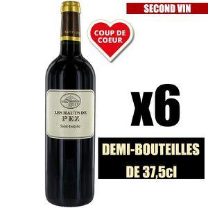 VIN ROUGE X6 Les Hauts de Pez 2012 37,5 cl AOC Saint-Estèphe